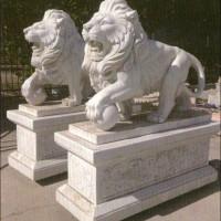 DW-1001_动物雕刻-石狮子