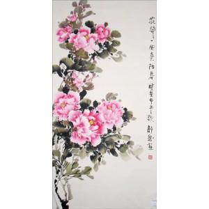 国画-牡丹-竖幅-1003