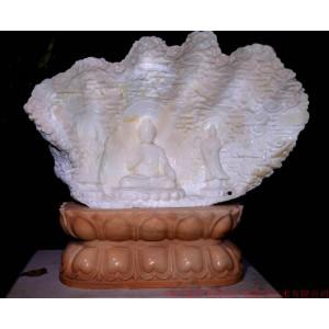 砗磲雕塑-释迦佛