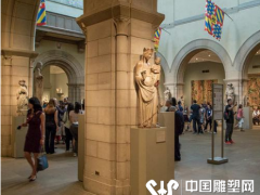纽约大都会博物馆:欧美雕塑馆 在虚空中保持着各种姿态